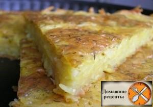Запеканка из тертого картофеля в духовке