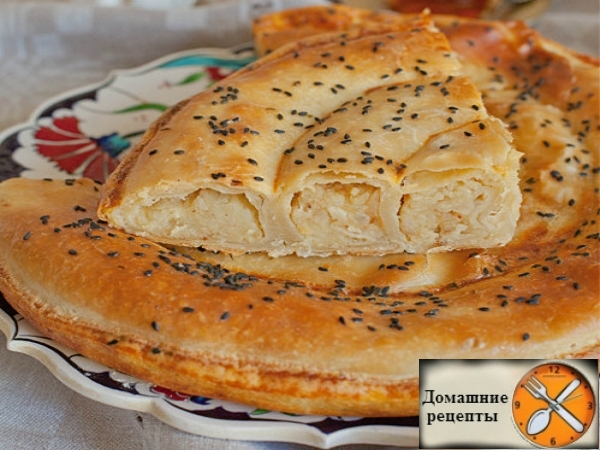 Бюрек (Börek) с картошкой и луком