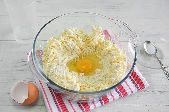 Открытый пирог «Киш лорен» с курицей и грибами
