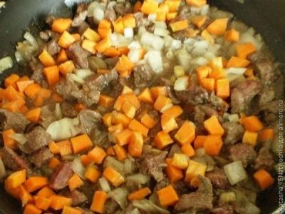 Говядина с картофельными галушками 2