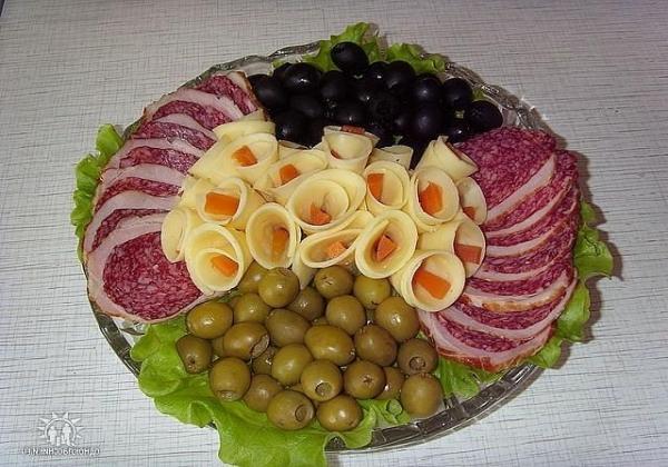 Идеи красивой мясной нарезки10