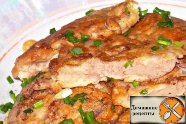 Нежная куриная печенка в сметанно-чесночно кляре