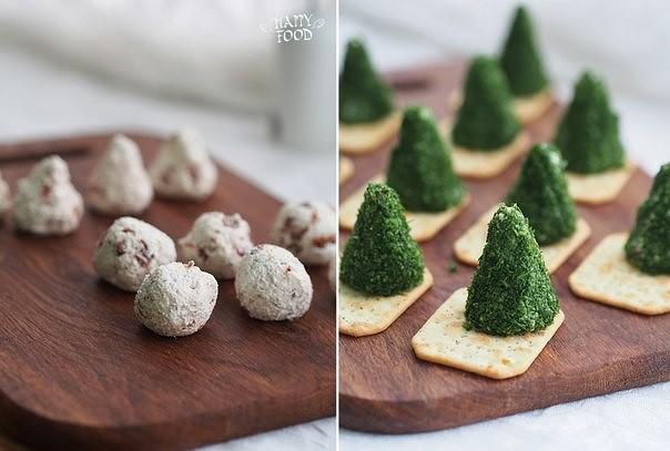 Сырные елочки к праздничному столу 5