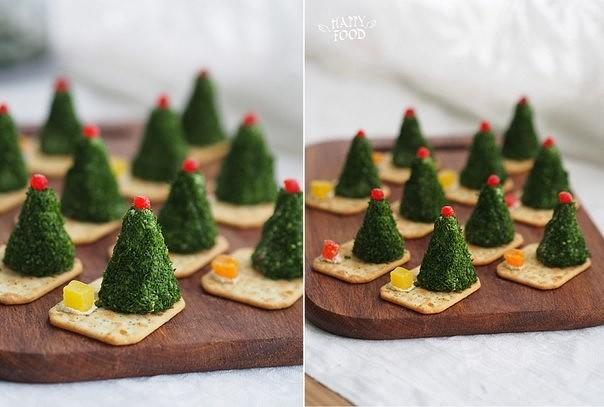 Сырные елочки к праздничному столу 6