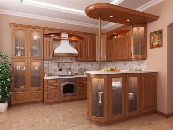 Барная стойка в интерьере кухни 13
