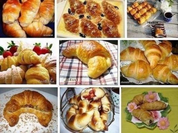 Круассаны - знаменитая французская выпечка. (9 рецептов)