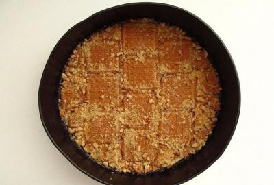 Творожно-малиновый торт 4
