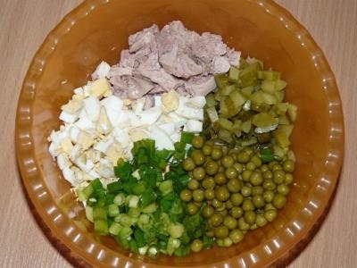 Салат из печени трески 3