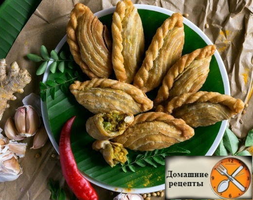 Азиатские жареные пирожки - карри паффы