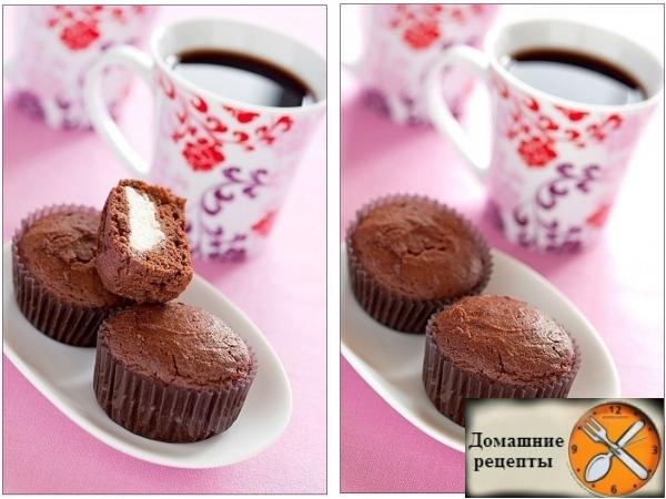 Шоколадно - творожные кексы