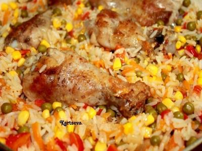 Курица с рисом и овощами по-каталонски 5