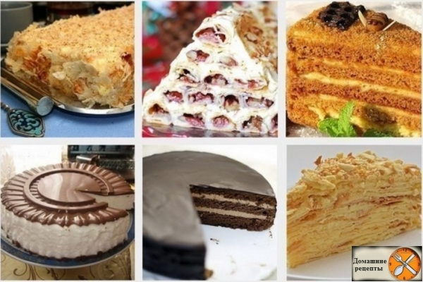 ТОП - 6рецептов самых популярных тортов