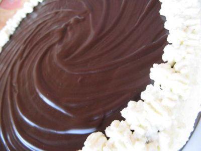Шоколадный торт с сырно-сливочным суфле  7