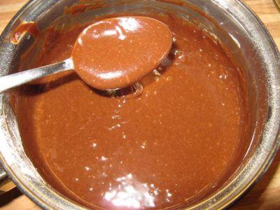 Шоколадный торт с сырно-сливочным суфле 1