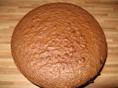 Шоколадный торт с сырно-сливочным суфле  2