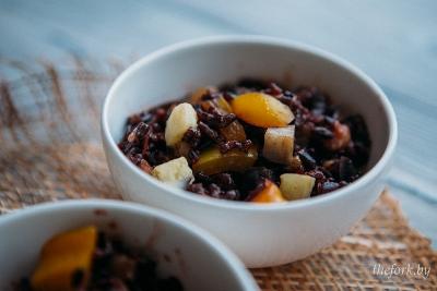 Черный рис с овощами 6