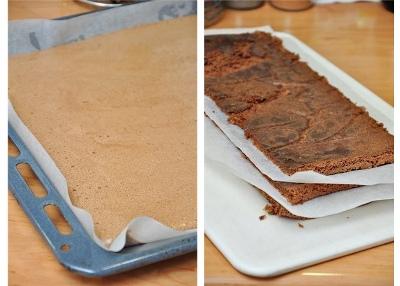 Шоколадный торт с мятно-сливочным кремом 3
