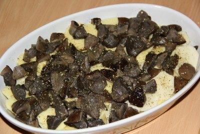 Куриные ножки с картошкой и грибами в духовке 3